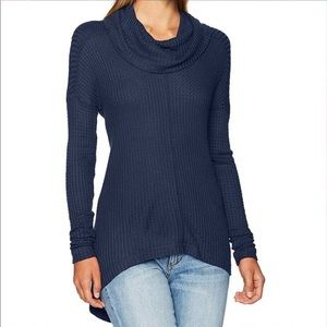 Lucky Brand Waffle Knit Cowl Neck